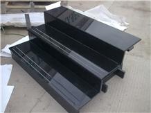 China Shanxi Black Granite Stairs, Floor Risers