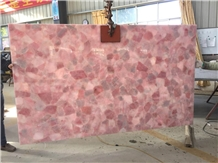 Crystal Pink Semiprecious Stone Slab,Gemstone