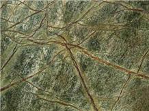 India Verde Rainforest Green Marble Slab