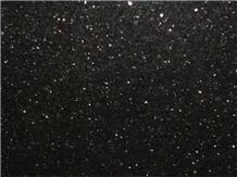 Indian Black Star Galaxy Granite Slab / Floor Tile
