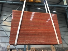 Iran Persia Rosso Red Travertine Slab / Rojo Persa