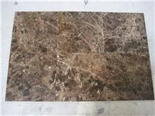 Marron Dark Emperador Brown Marble Floor Tiles
