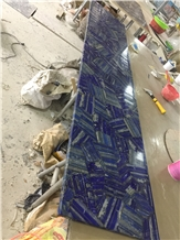 Natural Blue Lapis Lazuli Commercial Bar Top Project Show