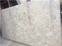 Natural White Crystal Quartzite Semiprecious Stone