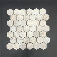 Palissandro Brown Marble Hexagon Mosaic Wall Tile