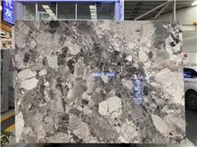 Pandora White Marble Slab Tile Hotel Lobby Floor