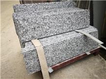 Spray White Wave Granite Stair / Riser / Threshold