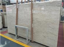 White Golden Ice Flower Marble Slab Polished Tile