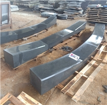 Black Basalt Sawn Bluestone Kerbs Ramps Wings