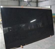 High Quality Crystal Black Quartz Slabs