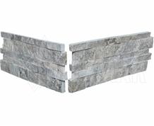 Silver Splitface Stacked Stone Corner from Atlanta