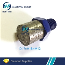 Sintered M12 Granite Solid Diamond Finger Bit Tip