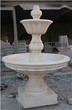 Fountain Crema Beige Marble Sculptured Waterfall