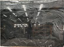 Tiles Slab Fantasy Black Wood Zebra Galaxy Marble