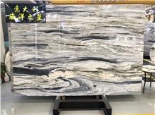 Michelangelo Green Quartzite Slab Floor Wall Decor