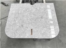 Tellaro Grey/White Quartz Nightstand Table Tops