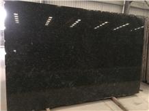 Angola Silver Black Granite Polished Big Slab Tile