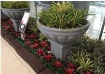 Changtai G654 Granite Black Honed Flower Pots