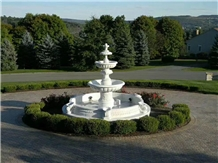 China White Marble Polished Fountain Water Feature
