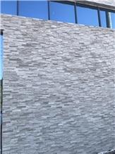 Chinese Mystic Grey Quartzite Split Cultured Stone