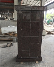 Dakota Mahogany Granite Curved Columbarium with