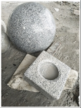 G623 Chinese Grey Granite Polished Parking Balls