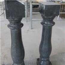 G654 China Black Granite Polished Baluster