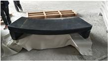 G654 China Black Granite Polishing Outdoor Chairs