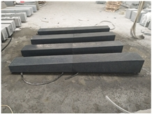 G654 Chinese Black Granite Flamed Curbstone