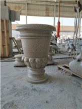 G682 China Yellow Granite Outdoor Flower Pots
