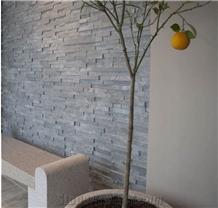 Natural White and Grey Quartzite Cultured Stone