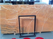 Orange Onyx Polished Wall Cladding Interior Design