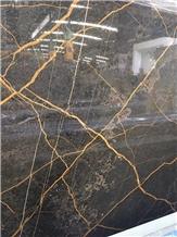St Brown with Golden Vein Saint Laurent Marble