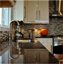 Tan Brown Granite Red Polished Kitchen Countertops