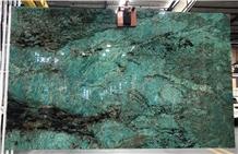 New Verde Amazonita Dark Green Granite Slab Tile