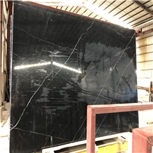China Black Marquina Nero Marquina Black Marble