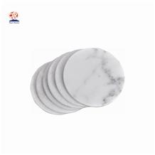 Cheap Round White Carrara Marble Coaster Price