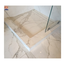 Natural Calacatta Marble Stone Shower Tray Base