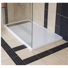 Natural White Marble Rectangle Square Shower