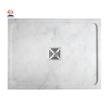 White Calacatta Marble Stone Resin Shower Trays
