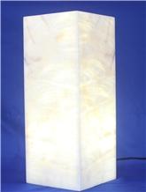 Luxurious Alabaster Rectangular Lamps