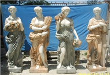 China Marble Four Season Girl Sculptures