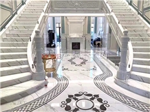 High End Hotel Project Marble Flooring Medallions