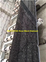 Rose Black Diamond Granite Tiles Slabs Cladding