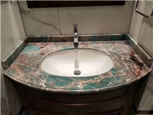 Customized Amazon Green Quartzite Vanities Top