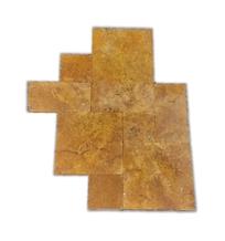 Gold Travertine Versailles Pattern Pool Pavers, Gold Tumbled Travertine French Pattern Pool Coping