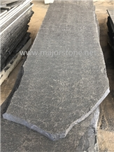 Slabs/Black Basalt Stone/Flamed/Waterjet