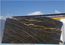 Nero St Laurent Black Gold Marble Slabs