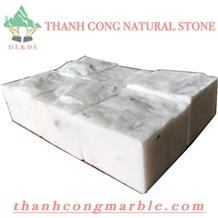 Ivory White Marble Cube Stone