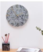 Natural Blue Jade Granite Round Wall Desk Clock